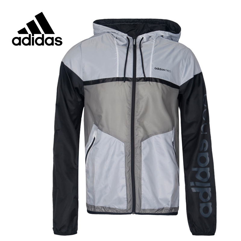 Adidas Original New Arrival Official NEO Label M CS WB Men's Jacket Hooded Sportswear CD1640 BR8521 adidas new arrival official ess 3s crew men s jacket breathable pullover sportswear bq9645