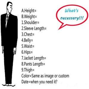 Image 5 - New Grey Peak Lapel Groom Tuxedos Bridegroom Men Suit 3Pieces Custom Made Latest Design Groom Blazer(Jacket+Pant+Vest+Tie)