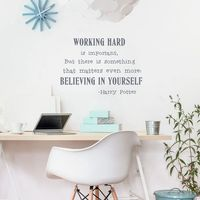Working Hard Is Important Qutes Vinyl Wall Art Sticker Harry Potter Quotes Wall Decals For