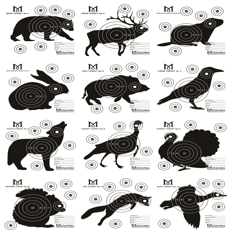 It is a photo of Fan Printable Animal Targets