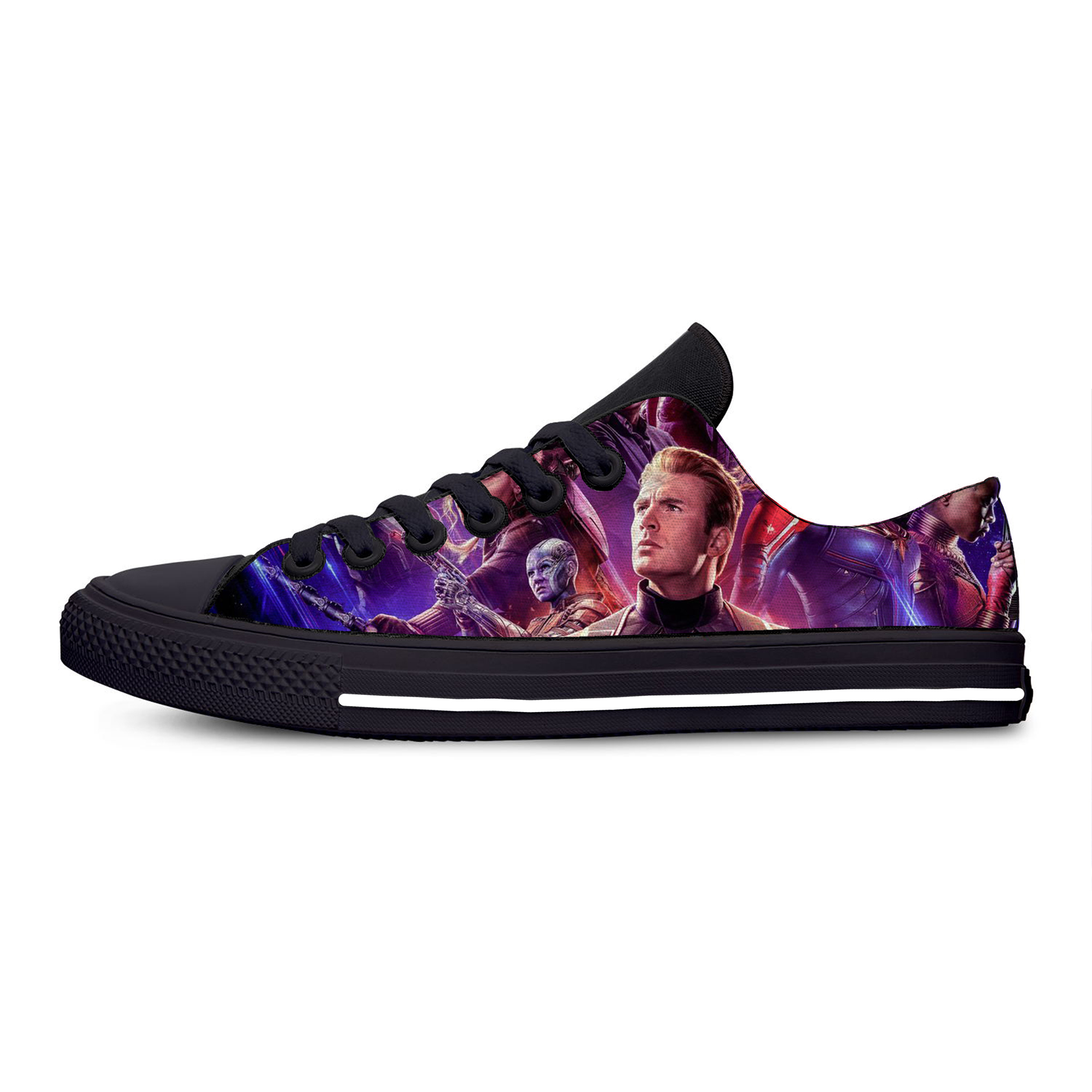 marvel Avengers Endgame Lace Up Breathable Shoes Summer Canvas Fashion Lightweight Sneakers for Women Men