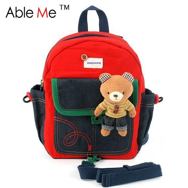 Korean Version The Cartoon Winnie The Anti-Lost Backpack Children Schoolbag Cute Infant Nursery School Bags Mochilas Infantis