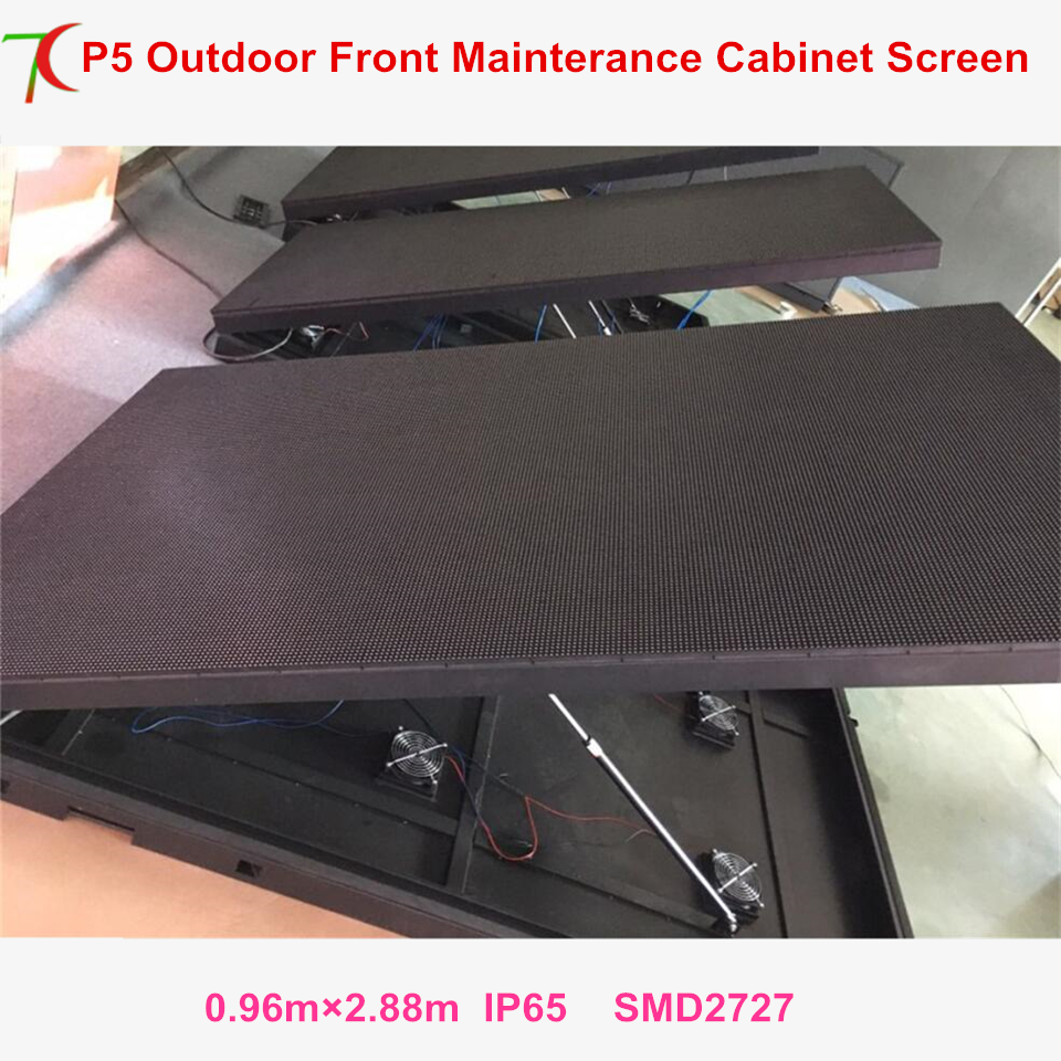 China Factoy Sales Front Mainterance Customizable  P5 Outdoor Waterproof Metal Equipment Cabinet Display Advertisement Screen