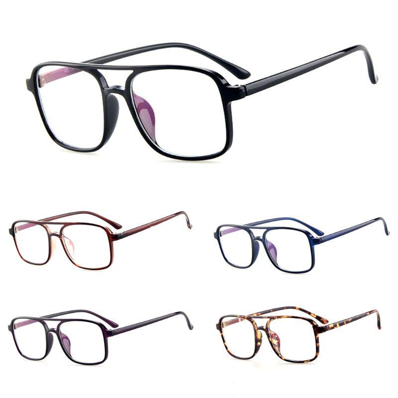 2019 New Optical Glasses Large Frame Fashion Classic Clear Transparent Lens Myopia Lens Women Men Ultralight Eyeglasses