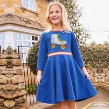 2019 New Spring Autumn Brand Girls Dress Unicorn Sequin Princess Dress For Girl Cotton Long Sleeve Kids Dress For Girls Clothes цена в Москве и Питере