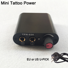 Hot Selling Black Mini Tattoo Power Supply For Tattoo Foot Pedal &Clip Cord Supply In Tattoo Power Supplies