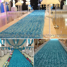 20 meter 3D Rose  Wedding Carpet Runner For Church Long Cheap Marriage Ceremony Floral Bridal Aisle Indoor Outdoor