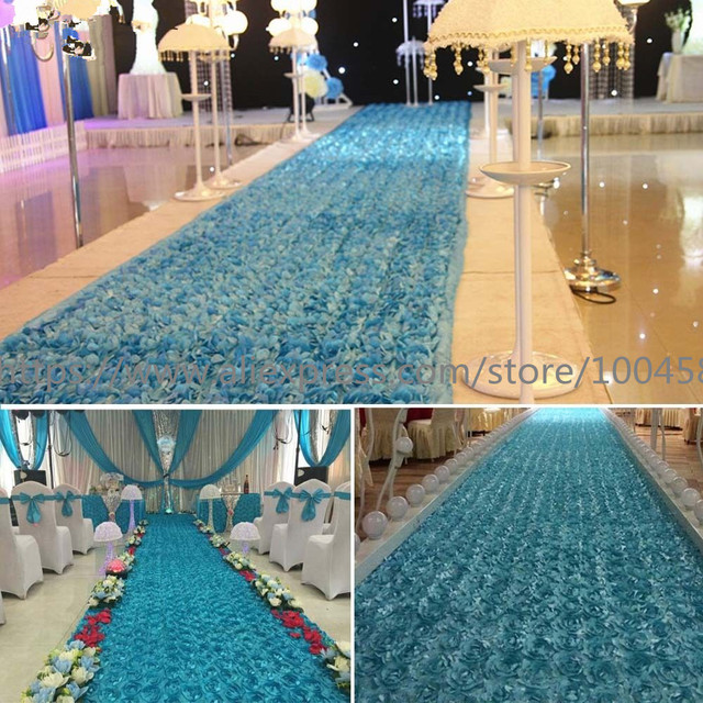 20 Meter 3d Rose Wedding Carpet Runner For Church Long Cheap