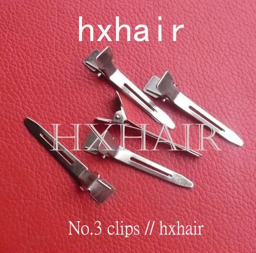 Wholesale - 100pcs No.3 Hair Snap Clips Hair Pins / Alligator Headwear Hair Accessories Hairpins Rustproof Electroplating