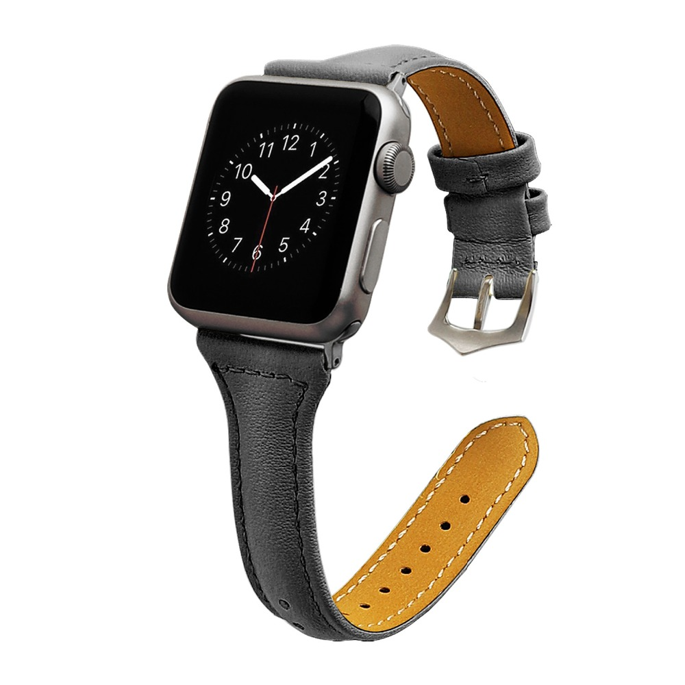 Genuine Leather iwatch strap Replacement Band with Stainless Metal Clasp for apple watch Serie 2 ,Serie1 ,Series3,38mm ,42mm colorful pu leather strap for bag accessories handle with metal clasp for diy purse 10pcs lot
