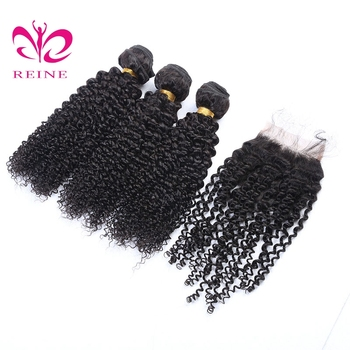REINE kinky wave brazilian natural hair unice hair  best hairstyles black women dyed 3bundles with closure free shipping
