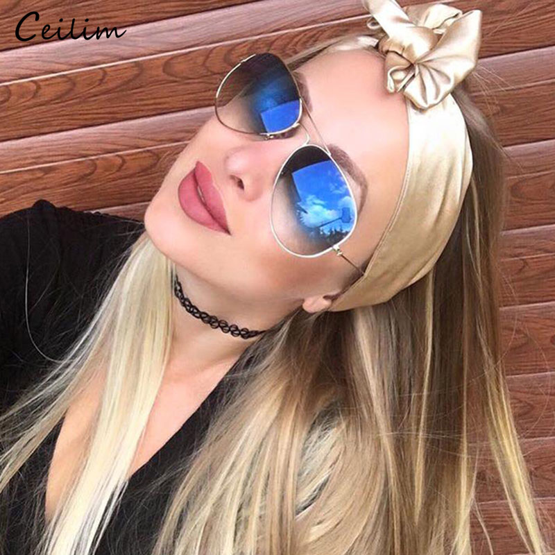 Pilot Sunglasses Wanita Designer Jenama Clear Gradient Sun Glasses Fashion Shades Tinted 2019 New Eyewear Transparent Oculos