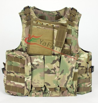 Hunting Airsoft MOLLE Nylon Combat Paintball Tactical Vest CP Camo Outdoor Products Hot Free Shipping