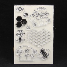ZFPARTY Bee Transparent Clear Silicone Stamp/Seal for DIY scrapbooking/photo album Decorative card making