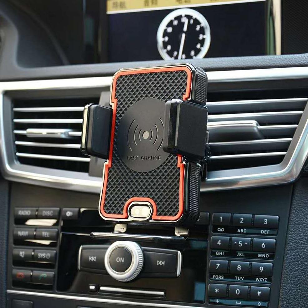 Capteur infrarouge Sans Fil Chargeur De Voiture Support Pour iPhone X 8 8 Plus Note8 S7 S8 S9 Rapide Support De Voiture Sans Fil De Charge Support de Téléphone
