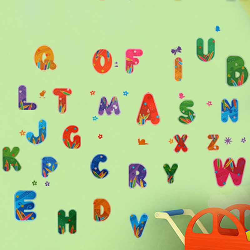 Letters Educational Wall Decal Home Sticker Paper Removable Art