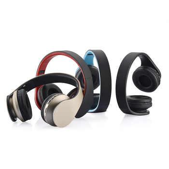 Wireless Bluetooth Headphone 4.1 Headset 3.5mm Wired Earphone MP3 TF Card FM HIFI Hands-Free w/Mic for Smart phone PC Laptop