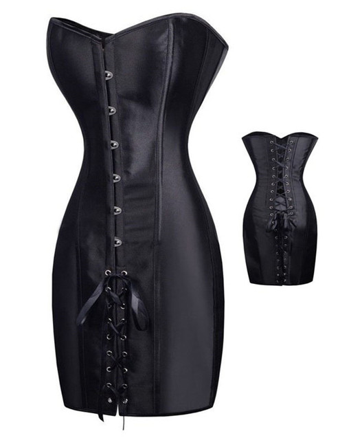 AA9267 Vintage leather harness gothique steel boned corset black steampunk corset dress gothic corset overbust latex women body