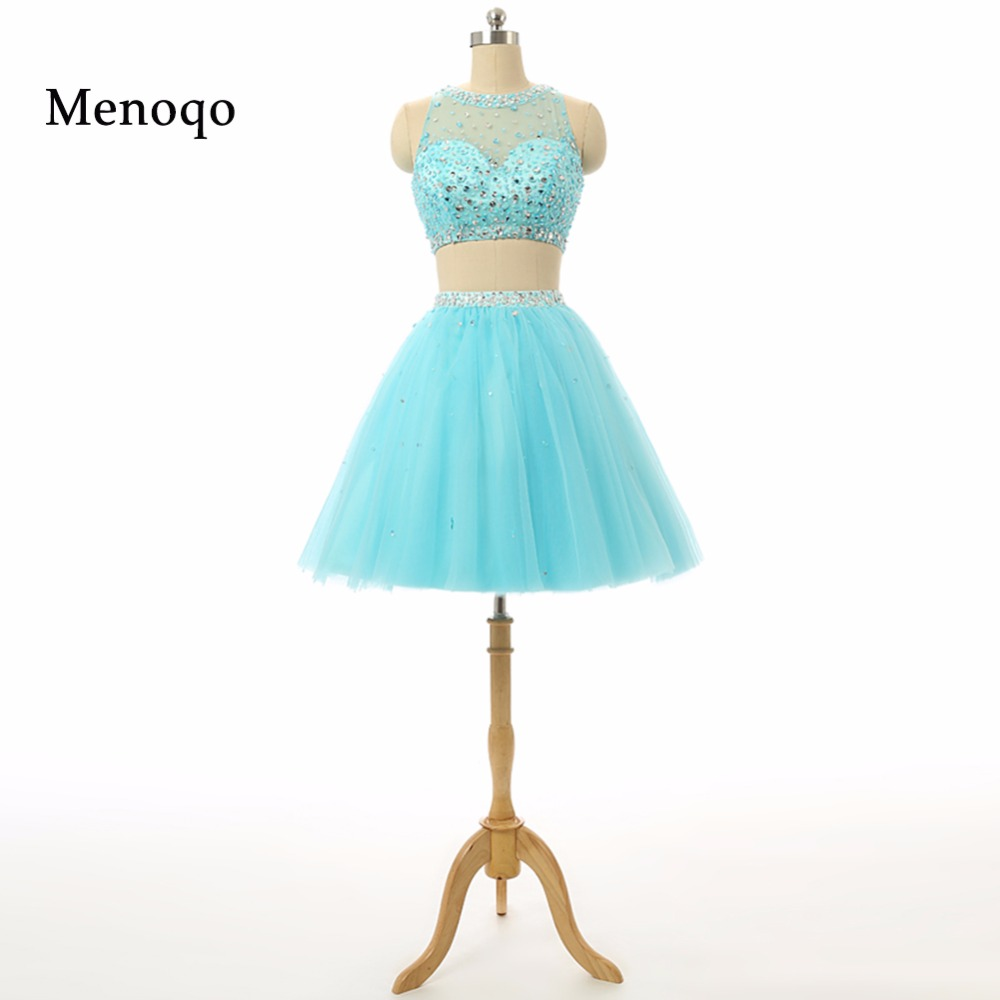 Hot Sale Shining 2 Piece Homecoming Dresses 2017 Halter With Luxury ...