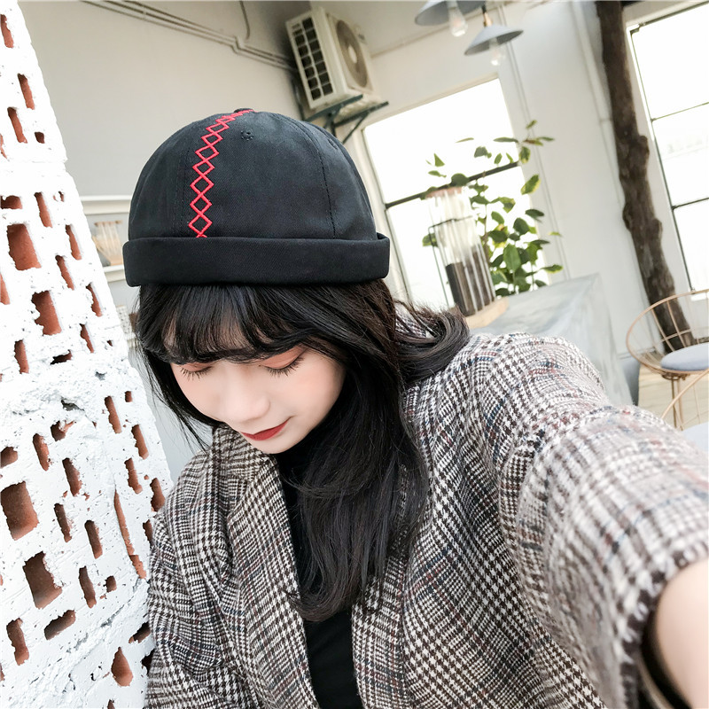 2018 New Pumpkin Hat Women Skullcap Ponytail   Beanie     Beanies   for Men Skullcap Brimless Skull Cap   Skullies     Beanies   Sailor Cap