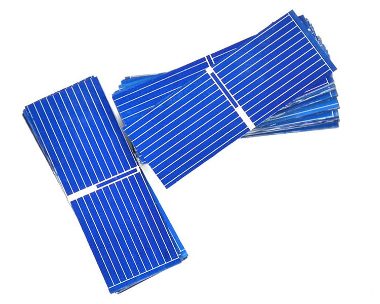 100pcs 52*19mm Solar Panels Painel Polycrystalline Silicon solar cells For DIY Charging experiment testing 6
