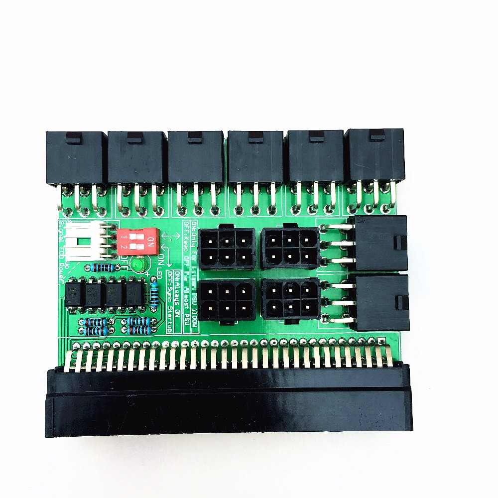 free ship ,6 pin Power Board for 1400W Server Power Conversion Board with 12 6pin Connector for  BTC Miner machine fast free ship for gameduino for arduino game vga game development board fpga with serial port verilog code