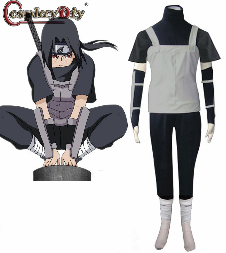Cosplaydiy naruto shippuden uchiha itachi anbu ninja uniforme anime cosplay festa de halloween carnaval traje roupa feita sob encomenda