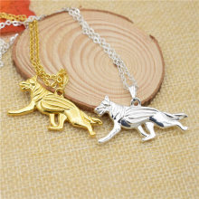 LPHZQH fashion Boho Chic German Shepherd dog pendant necklace Women chain choker necklace collar Jewelry gift silver gold color