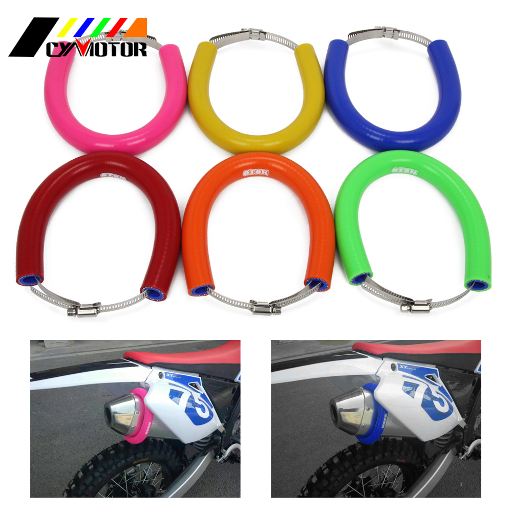 Motorcycle OTOM Oval Roung Heat Anti-hot Exhaust Protector Cover For Motocross Dirt Pit Money Bike OFF Road 250 350 450 500 CC