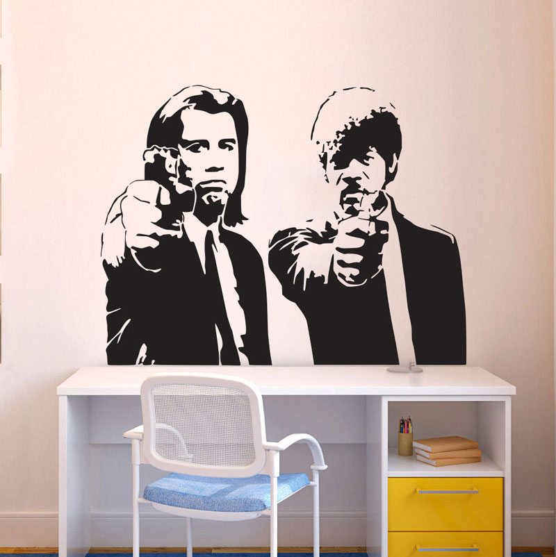 Movie Wall Art Applique Decoration Print Sticker Vinyl Poster Pulp Fiction Print Quentin Tarantino Samuel Jackson DY21 image