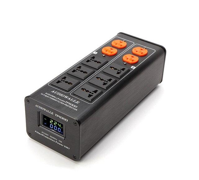 2020 AUDIOWALLE TP1000 جديد لتنقية الطاقة وصلات صوت مرشح الطاقة مع عرض الجهد LED