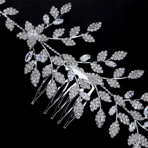 Image 5 - HADIYANA diadèmes et couronnes, joli motif de feuille à fleur, tendance, élégant pour femme, luxe de haute qualité, BC4763