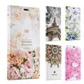 3d em relevo designer case for huawei p8 lite luxo floral elegante caso suporte de couro da aleta para huawei p8 lite