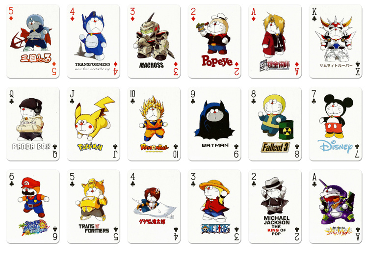 New A Deck Poker Japanese Anime Manga Cartoon Series Doraemon Playing Card In Action Toy Figures From Toys Hobbies On Aliexpress