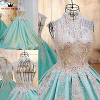 Robe De Mariage Custom Made 2016 Vestido De Noiva Lace Up Wedding Dresses Free Shipping Bride