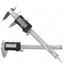 "On sale 6 ""150 mm Carbon Fiber Widescreen Electronic digital meter caliper Micrometer Caliper Electronic Inner depth measuring Tool"