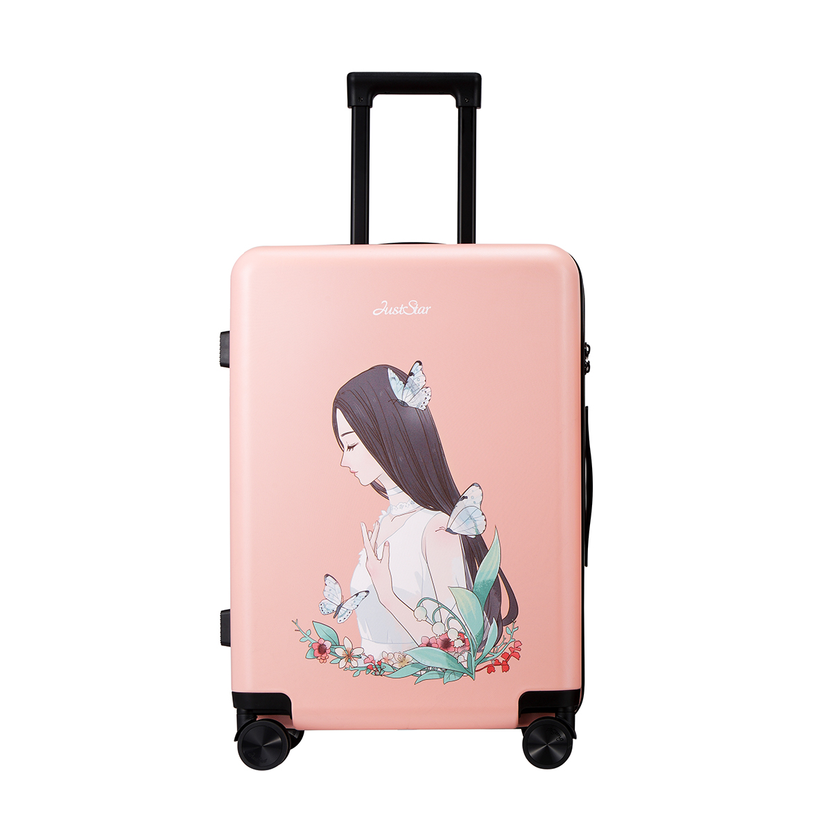 2017 Women Spinner trolley luggages TSA Lock Girls Rolling Luggage PC Hardside 20-Inch Trolley Travel case Boarding Luggage new 2024 inches business trolley case pc students travel luggage mute spinner rolling suitcase combination lock boarding box