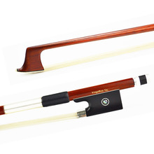 1/4 New SWEET MELLOW Sound Pernambuco VIOLIN BOW. Unbleached Mongolia Horse Hair, Brown Colorful and ROUND Stick!!