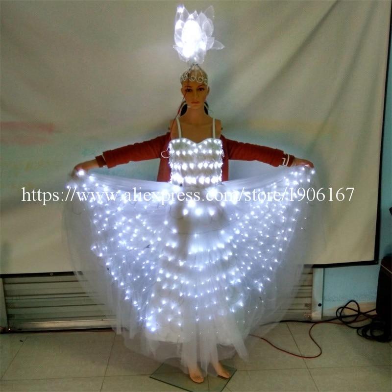 2016 οδήγησε φωτεινό φόρεμα βραδινό - Προϊόντα για τις διακοπές και τα κόμματα - Φωτογραφία 5