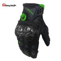 Reiten Tribe Motorrad Handschuhe Winter Ziegenleder anti-schock Festem Touchscreen Schutzausrüstung Motocross Racing Handschuh MCS-40