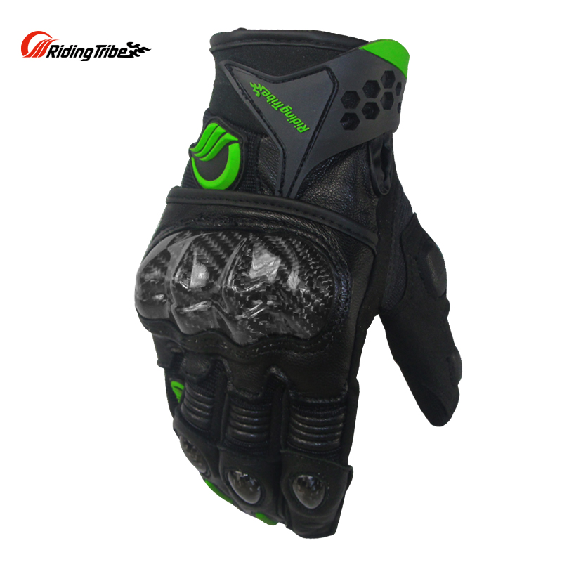 Riding Tribe Motorcycle Gloves Winter Goat Leather Anti shock Durable Touch Screen Protective Gear Motocross Racing Glove MCS 40