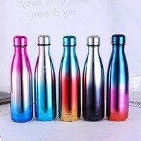 Нержавеющая сталь бутылка для вина форма термос бутылка путешествия колба велоспорт бутылка для воды бутылки Боулинг автомобиль чайник 500 ...