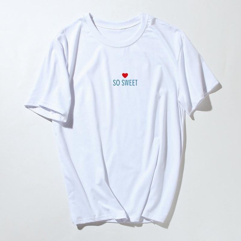 Funny Printed Cotton Men Summer New T Shirt Short Sleeve Harajuku Casual T-shirt Letter So Sweet Tee Shirt Camisa Masculina Tops