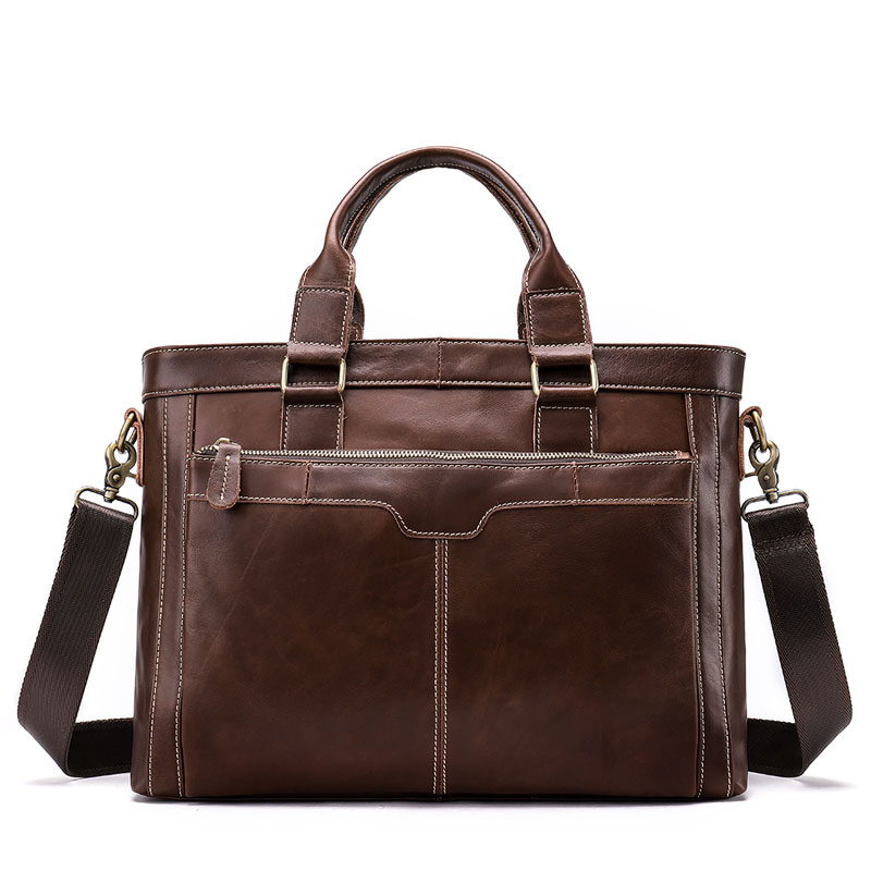 Men Genuine Leather Briefcase Male Bags Messenger Bag Laptop Man Handle-top Crossbody Bags for Men Travel Business Shoulder Bags cossloo promotion authentic brand composite leather bag men s travel bags casual male shoulder briefcase for business man