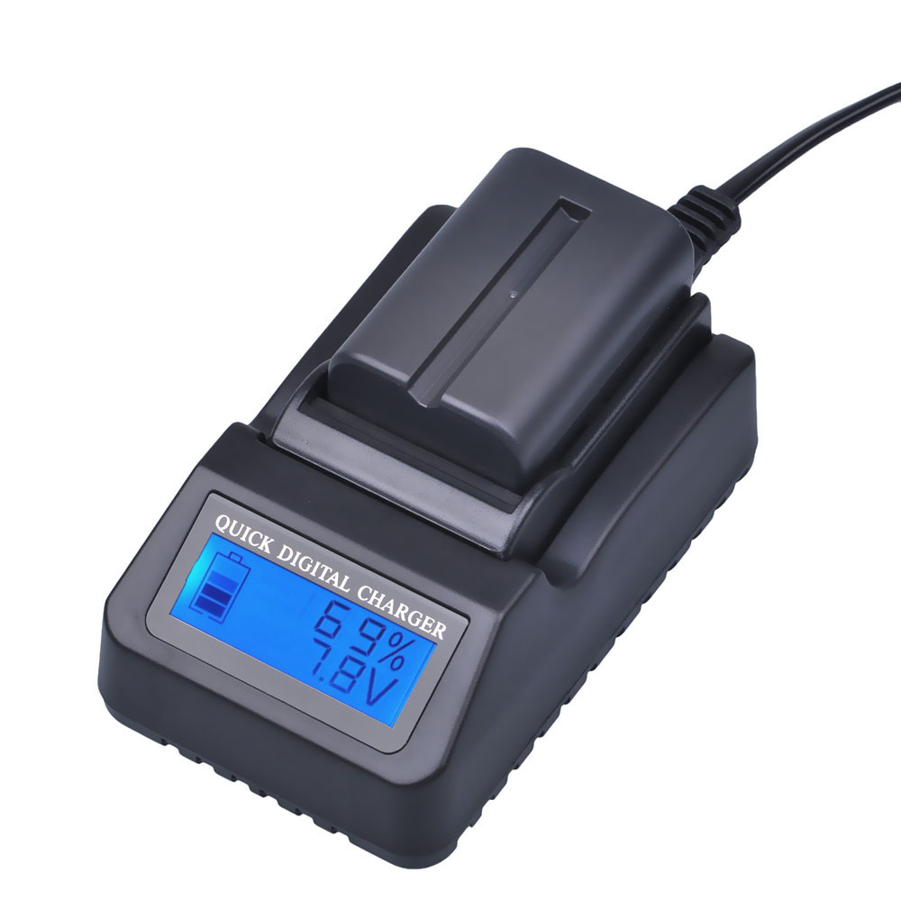 1pcs NP-FM500H NP FM500H Rechargeable Camera Battery + LCD Quick Charger For Sony FM500H A57 A65 A77 A99 A350 A550 A580 A900