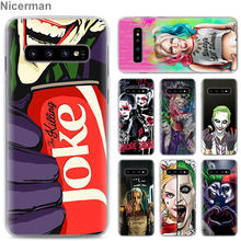 Harley Quinn Coringa do Esquadrão Suicida Phone Cases para Samsung Galaxy S10e S10 Plus S8 S9 Plus S6 S7 Borda A40 a50 A70 M20 Caso Coque(China)
