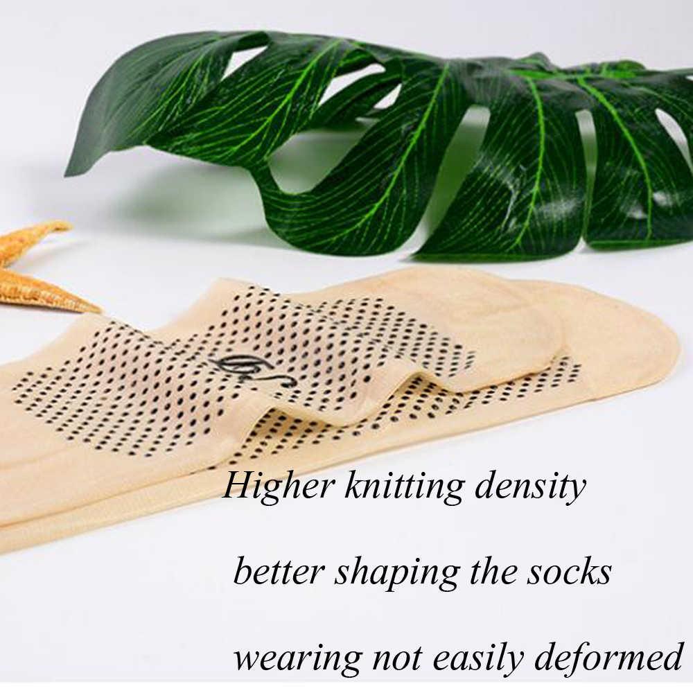 10 זוגות\חבילה חדש קטיפה משי גרבי נשים גרביים מחלק להחליק עיסוי הפתילה להחליק עמיד גרב נשים גרביים קצרים