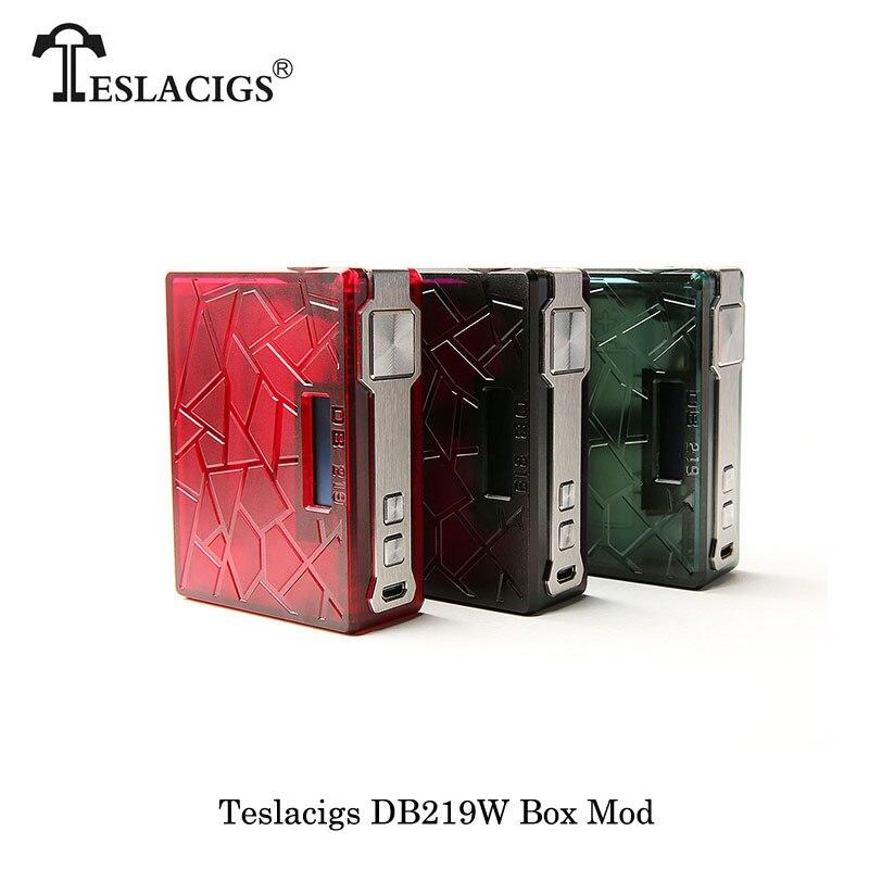 Cigarettes électroniques 219 w Teslacigs Tesla DB219 TC Boîte Mod Alimenté par double 18650 Batterie Vaporisateur Vaporisateur Ultem PEI VS SMOK Alien