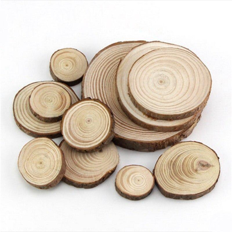 10pcs 10,11 /& 12 cm Wood Rustic Log Disc Slices Crafts Party Wedding Home Decor!