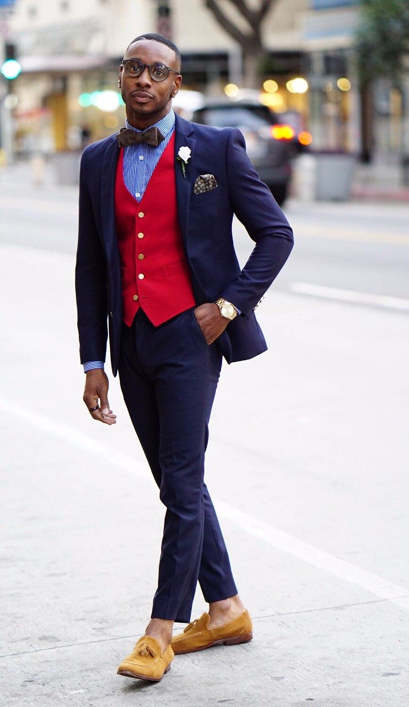 Popular Navy Red Suit Men-Buy Cheap Navy Red Suit Men lots from ...